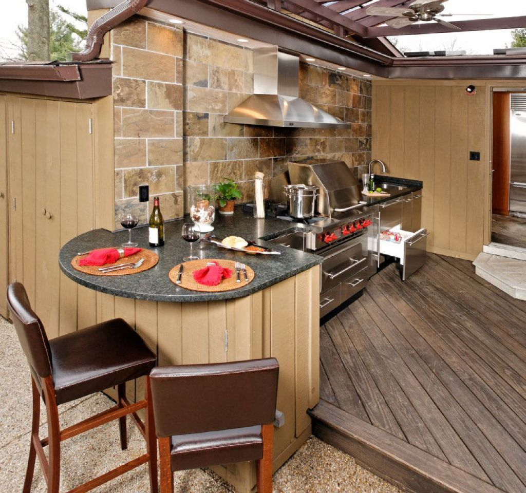 Kitchen , Incredible Outdoor Kitchen Ideas; Extra Charming
