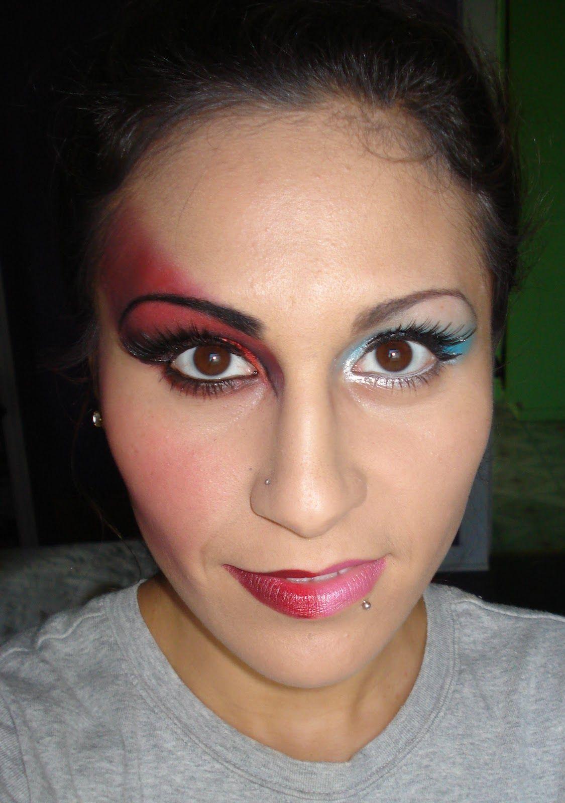 half devil half angel makeup Google Search Halloween