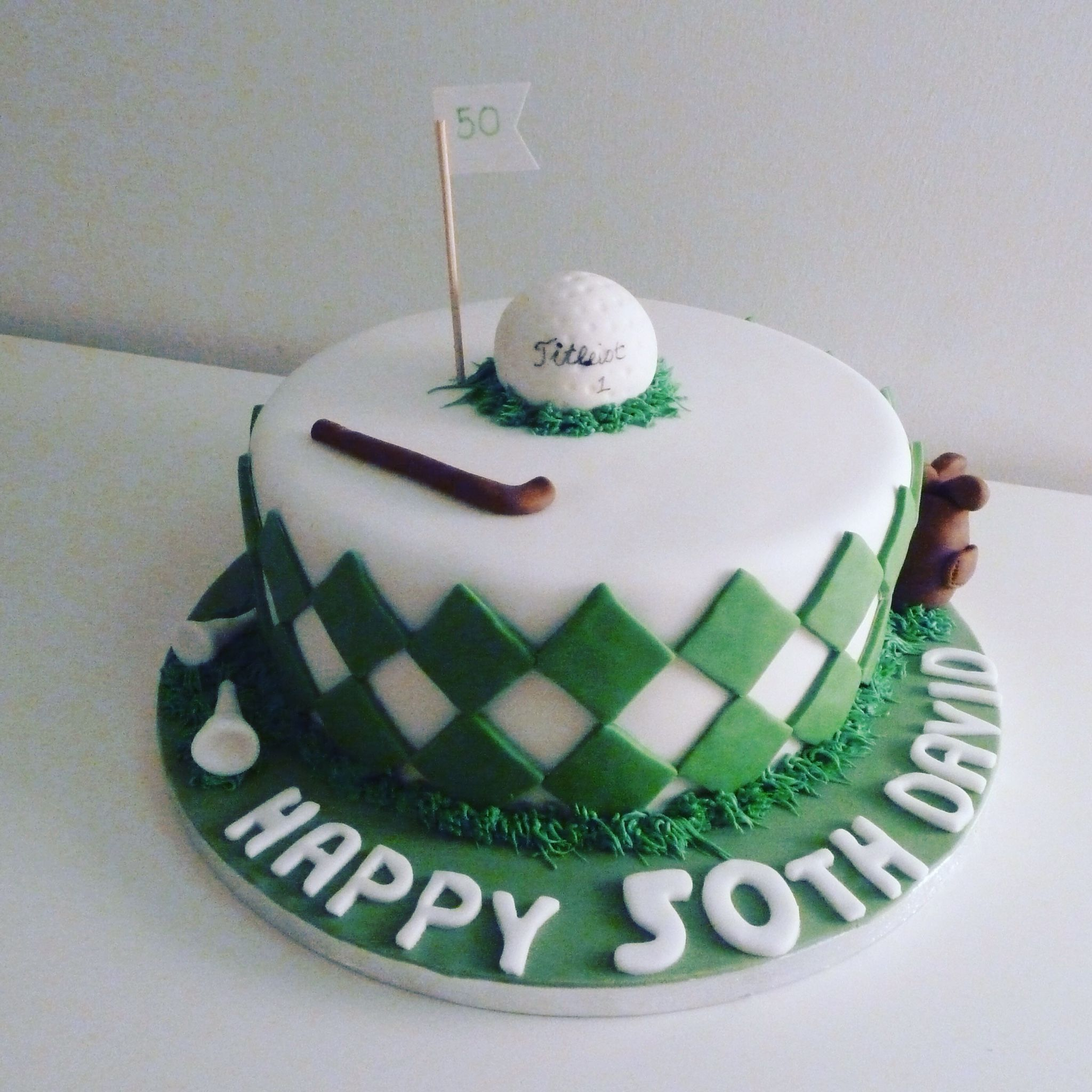 Golf Theme Birthday Cakes