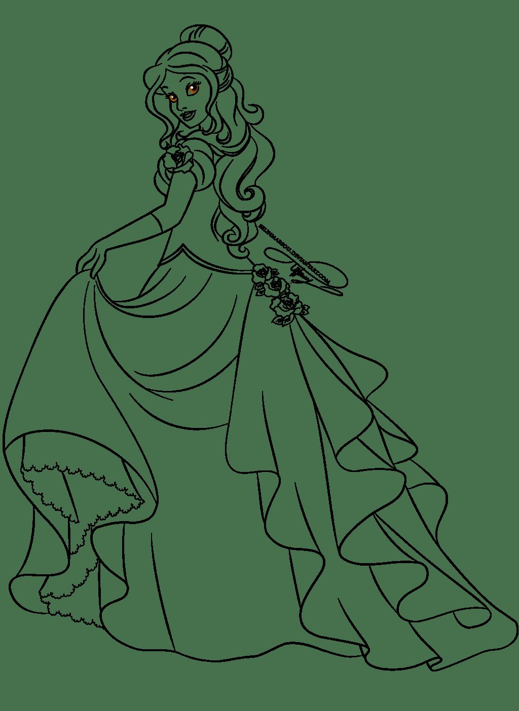 coloriage la belle et la bête Coloring Princess