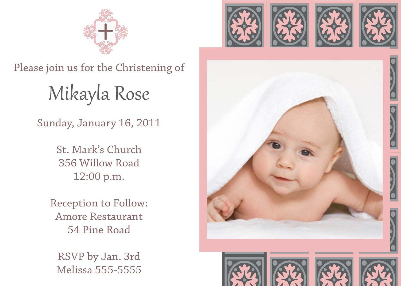 Baptism Invitation Card Template Free