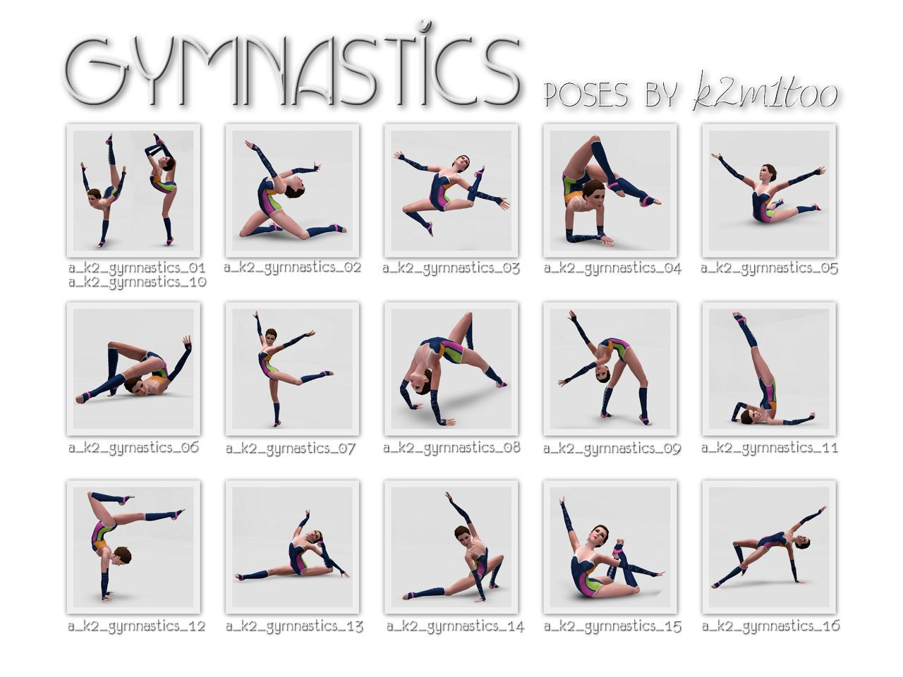 Gymnastic Poses Names