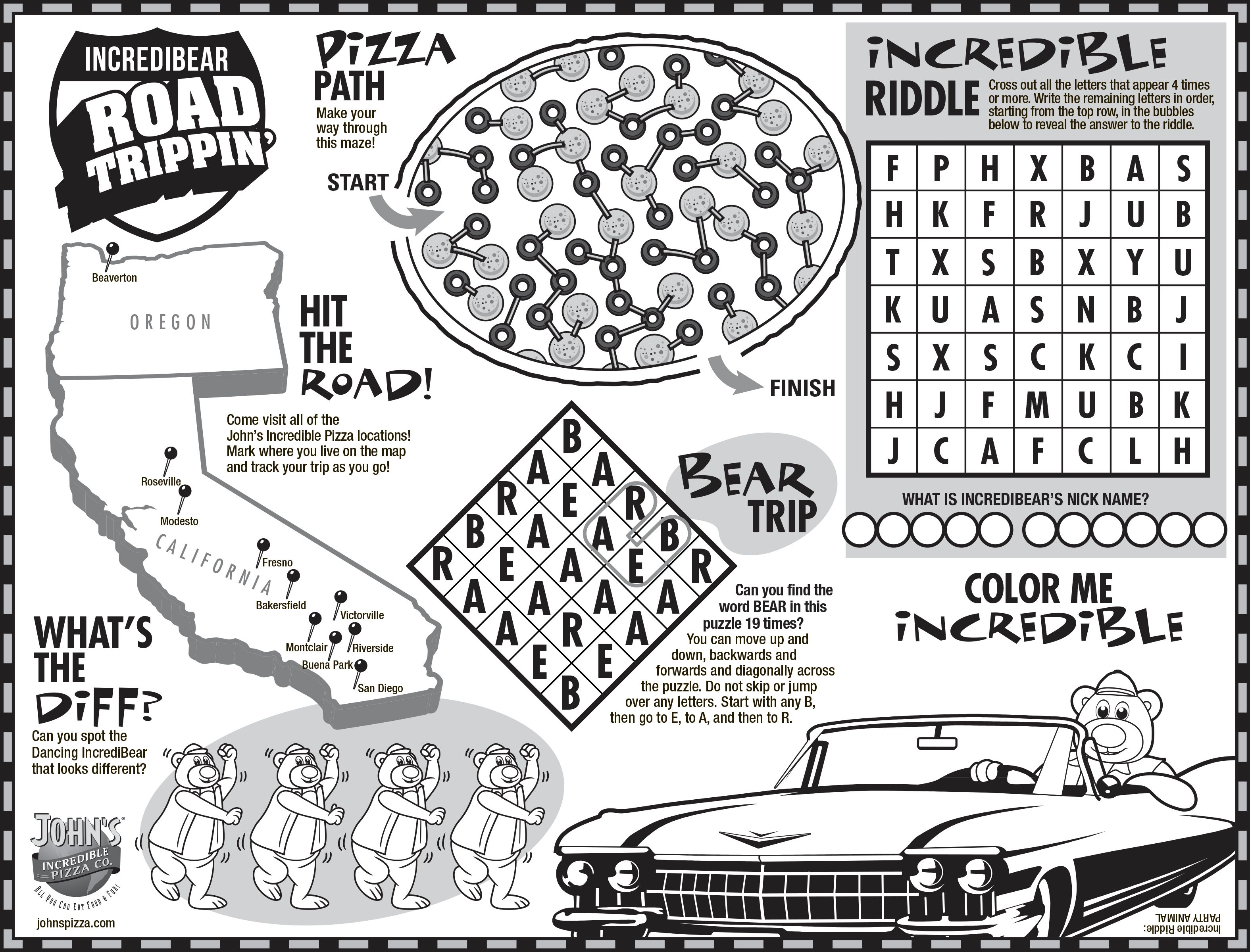 Keep The Kids Busy With John S Road Trip Coloring And