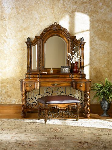 Bedroom Furniture Grand Tuscan Dresser Mirror Havertys