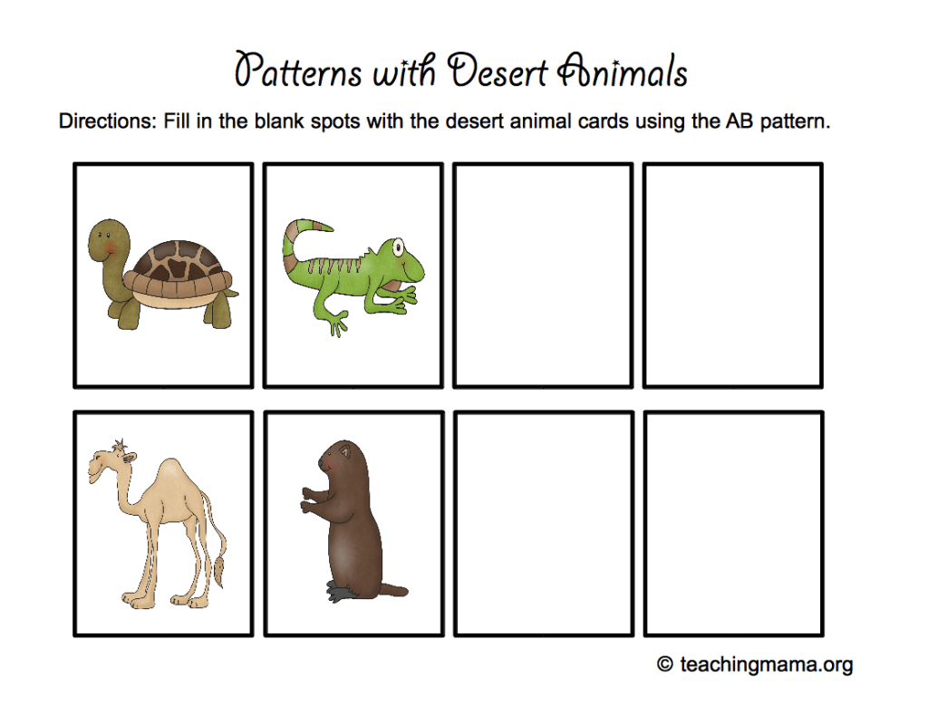 Desert Animal Printables Desert animals, Deserts and
