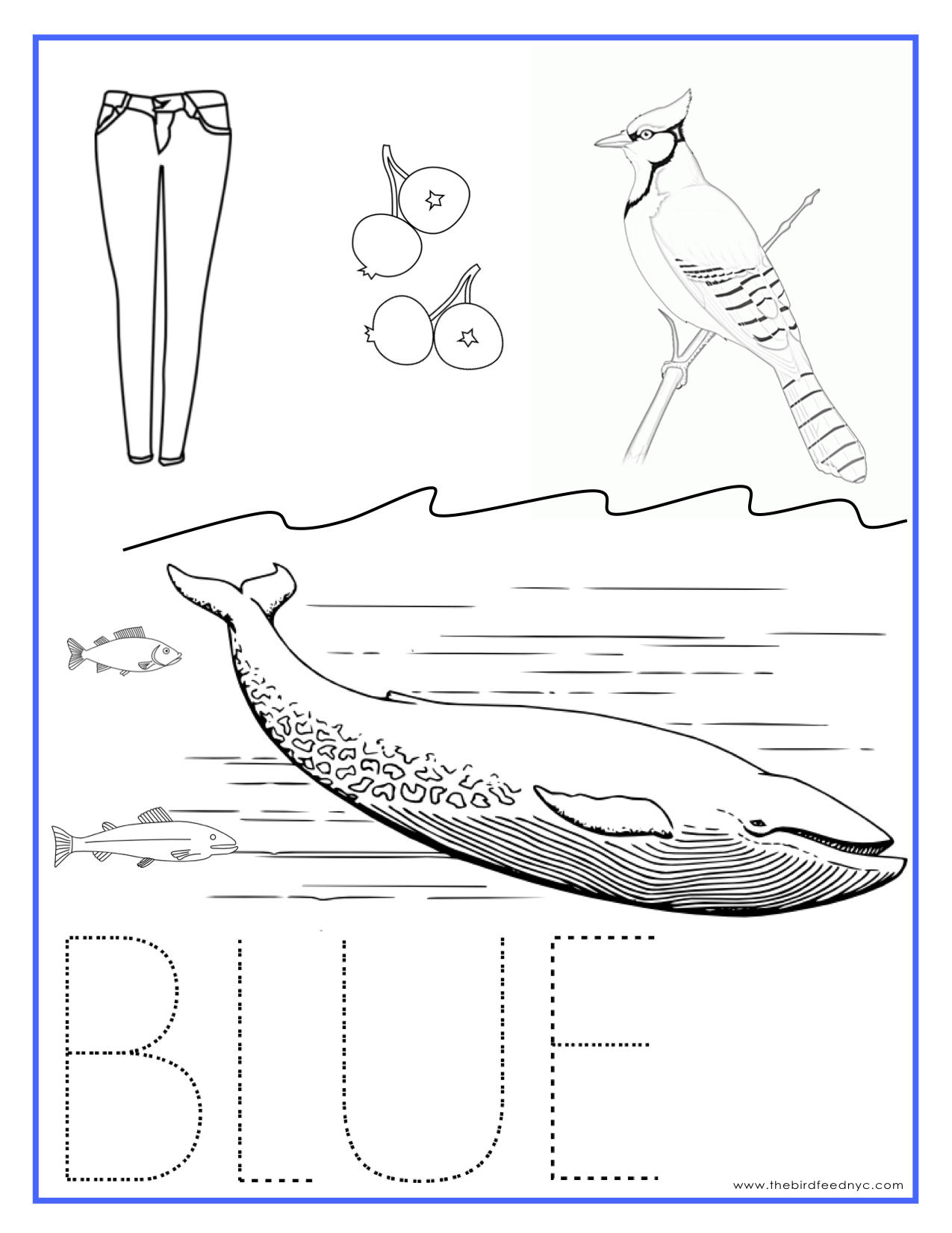 Blue Color Activity Sheet Repinned By Totetude
