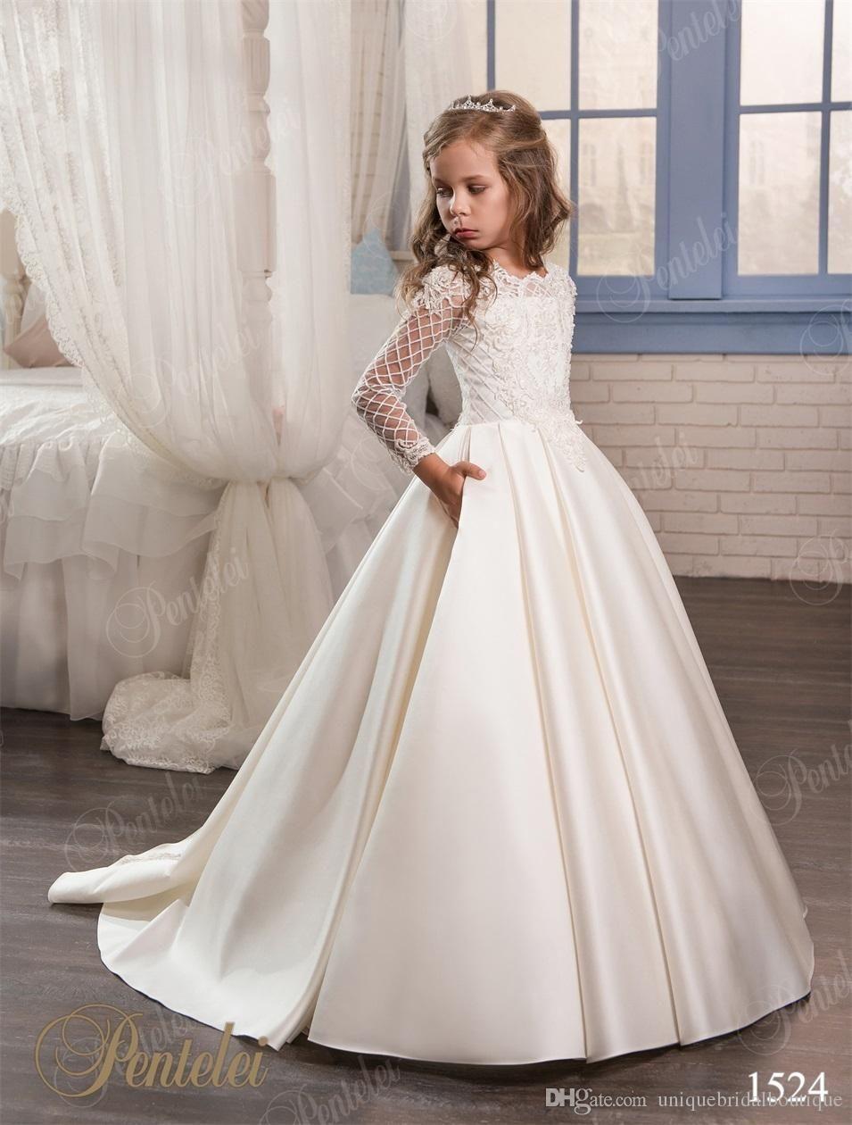 Wedding Dresses for Little Girls 2017 Pentelei Cheap with