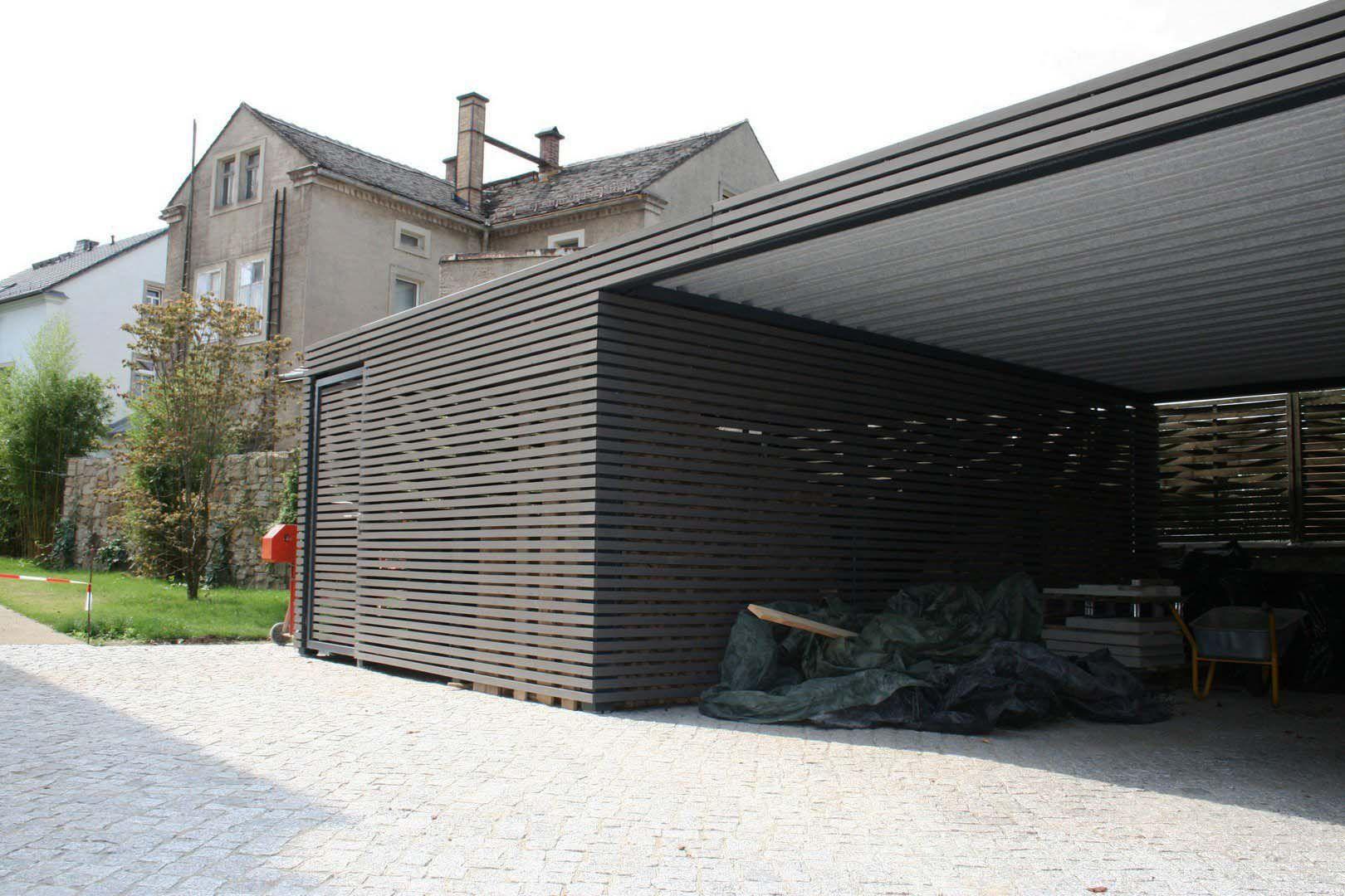 Design Metall Carport aus Holz Stahl individuell Dortmund