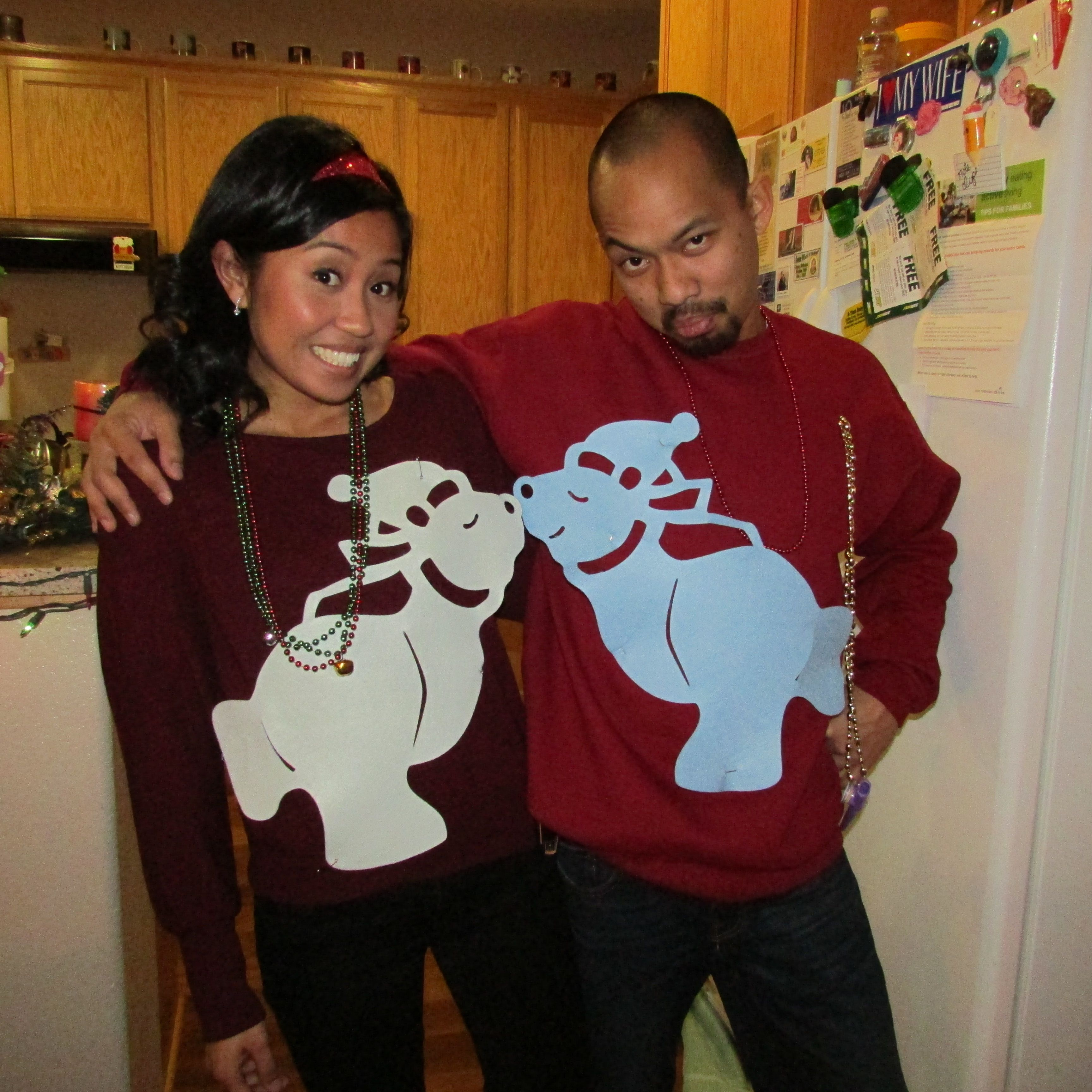 Christmas Ugly Sweaters for couples Wardrobe Pinterest