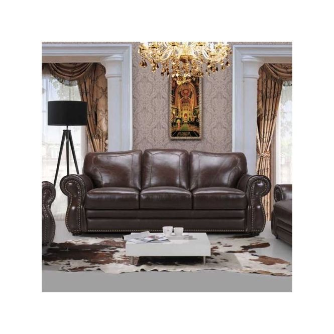 Astor Leather Sofa Furniture And Mattress Outlet
