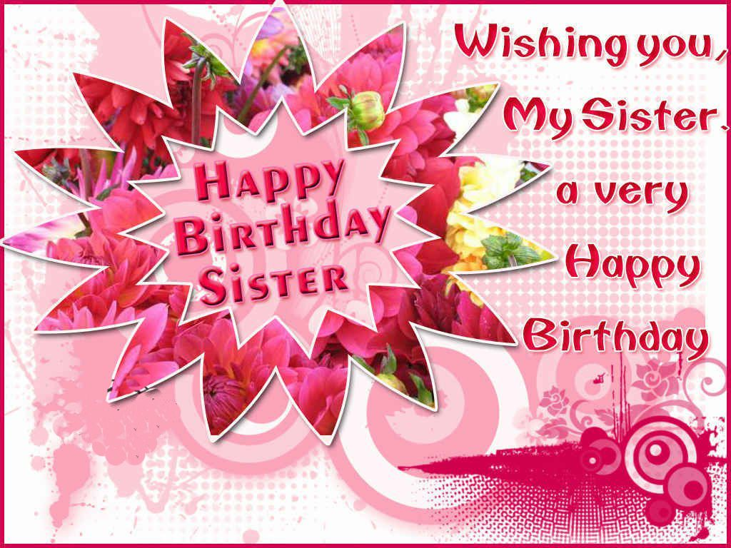 Free Singing Birthday Card Animated for sister happy