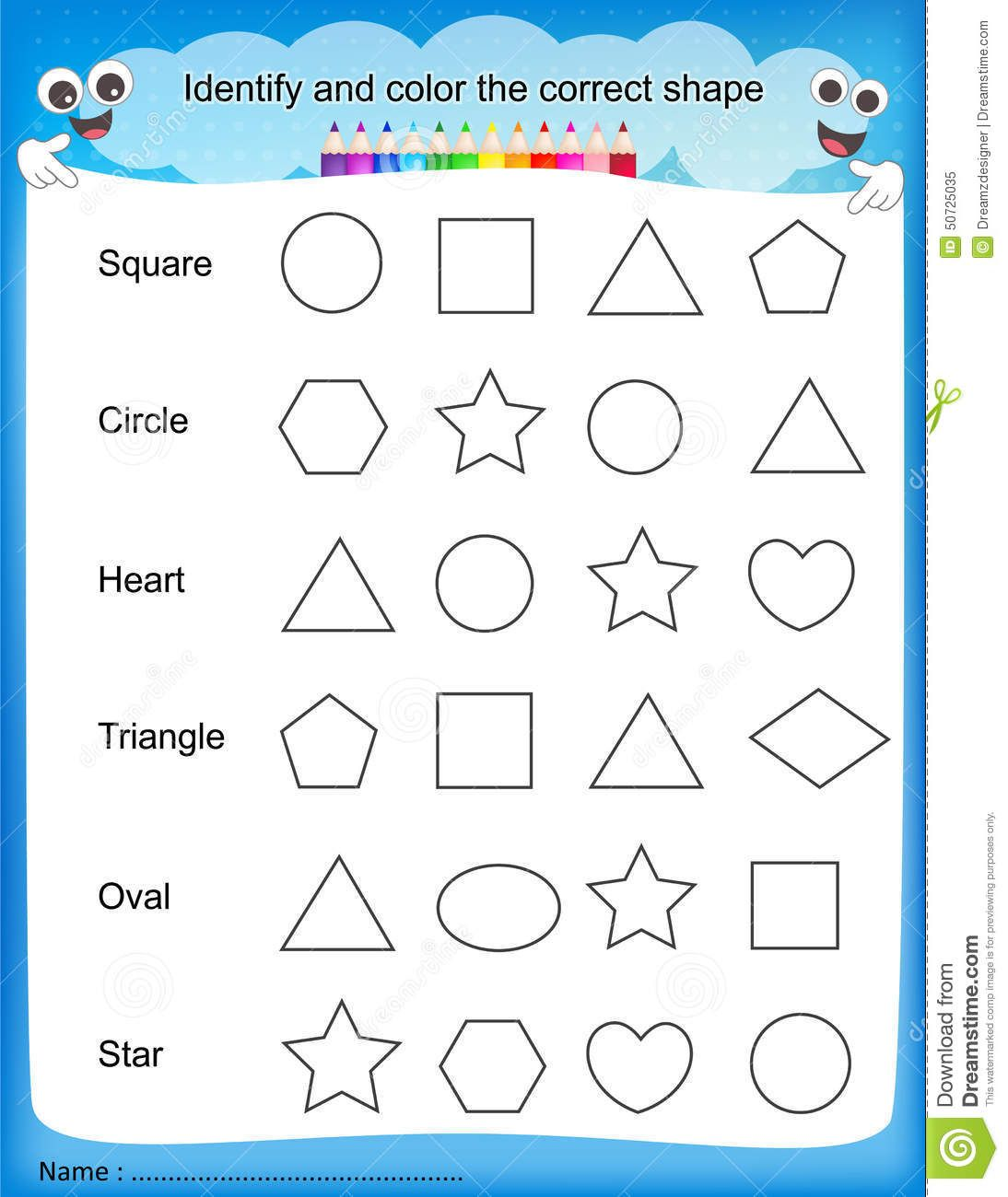 Colours Worksheet For Kindergarten