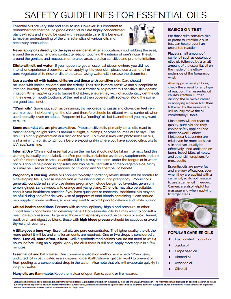 essensial oils safety guidelines.pdf FOOD Herbs