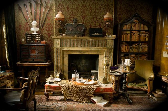 Image result for old victorian home with wallpaper