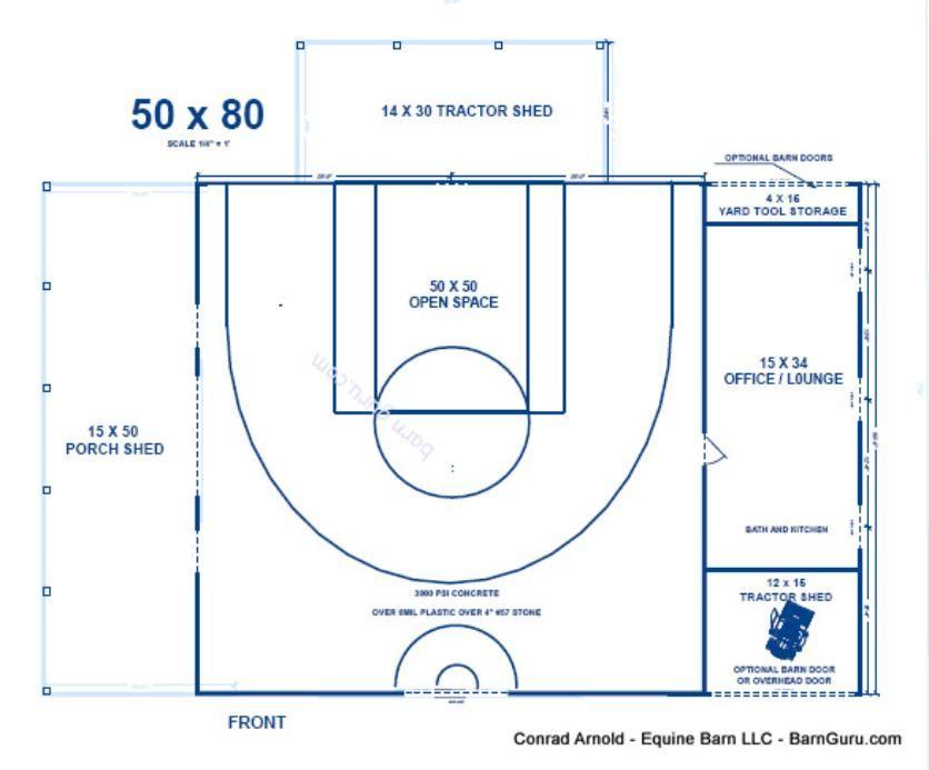 Half Court Basketball Barn