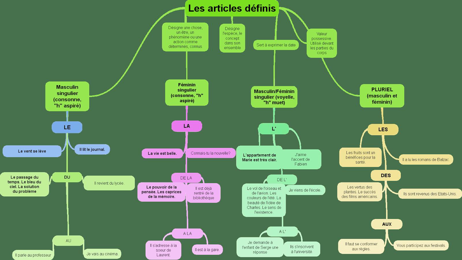 Les Articles Definis Et Indefinis Presentations Synthetiques Quiz En Ligne Et Exercices