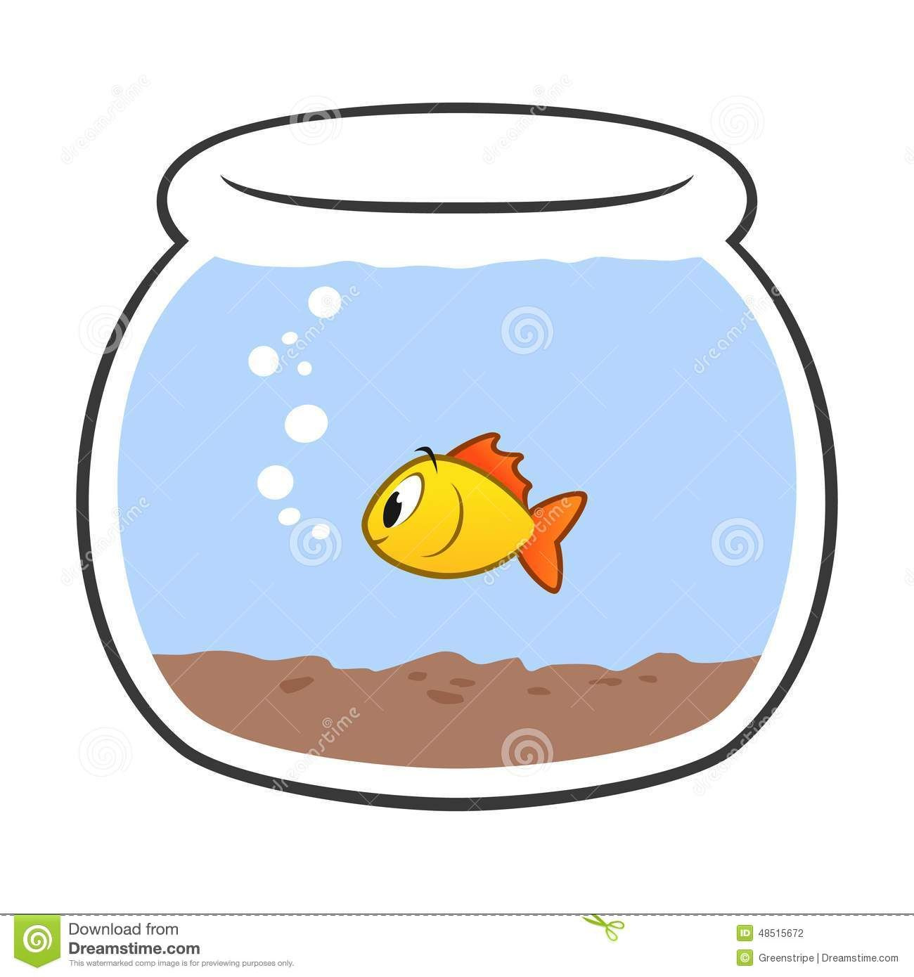 Fishbowl Clipart Goldfish Fish Bowl Clip Art Royalty Free