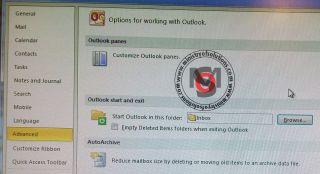 Outlook:Today script error popup