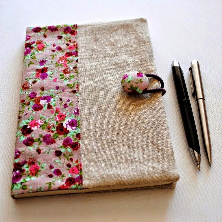 Tutorial How to Make a Fabric Journal Cover note books