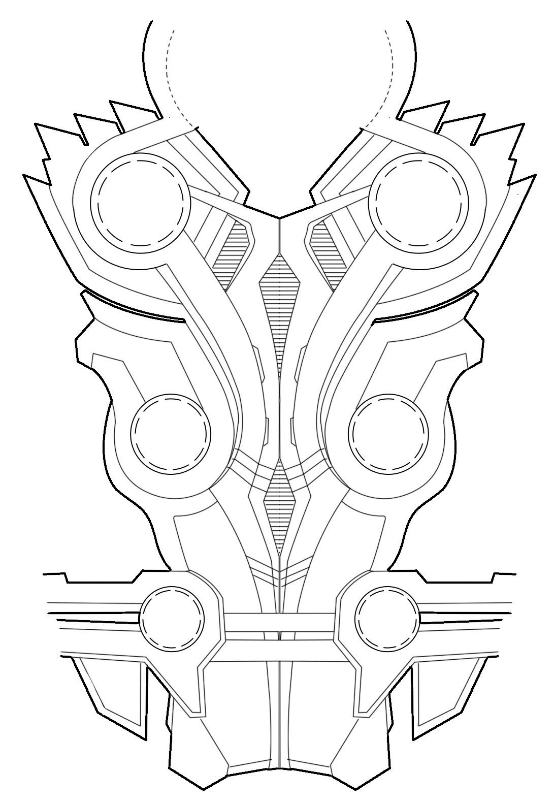 Thors Chest Armor Diagram For Rule S Thor Cosplay