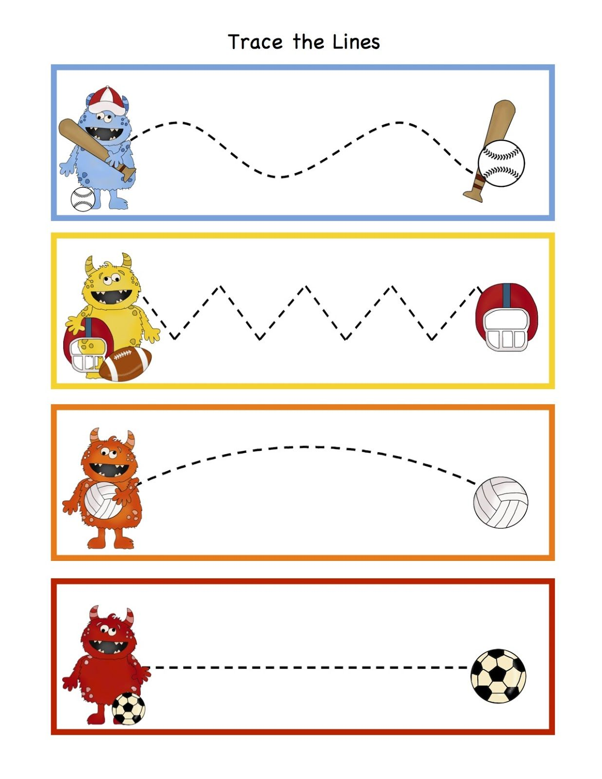 Free Preschool Printables Monsters All Stars Printable