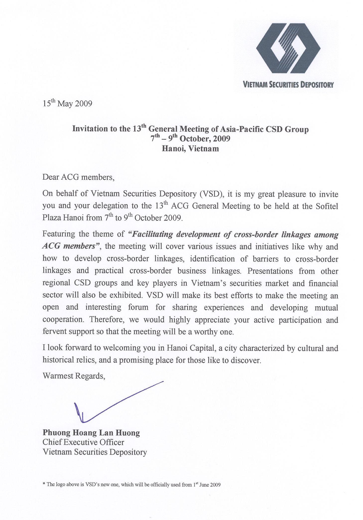 Invitation Letter To ACG Invitation Letter For UK Visa