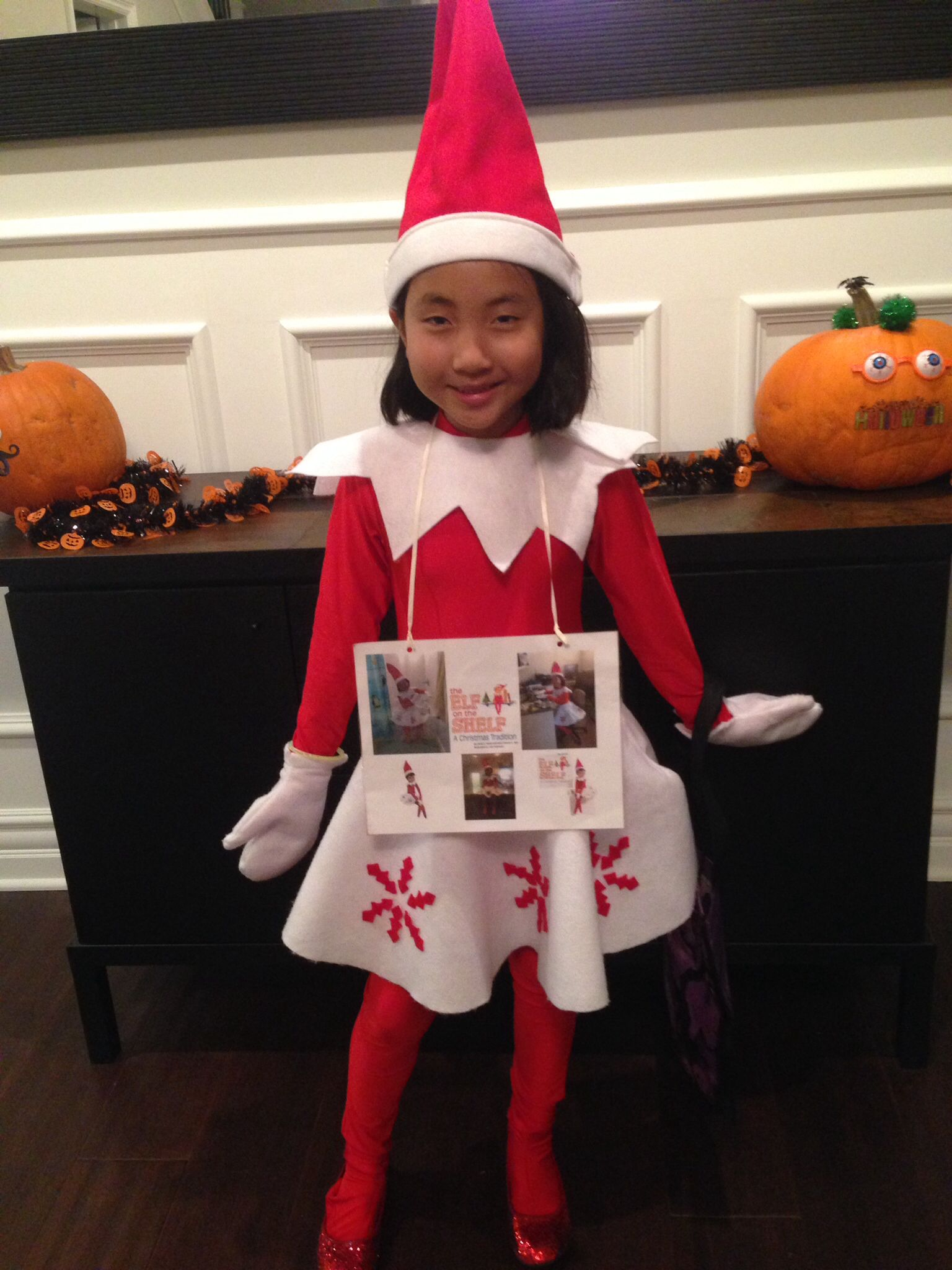 Elf on the Shelf Costume Halloween! Pinterest Elves