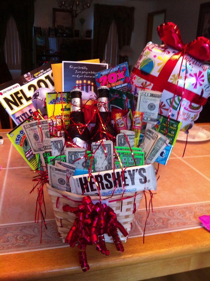 A basket full of little presents DIY Pinterest Gift