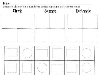 Shape Worksheets Circle Triangle Square Rectangle And