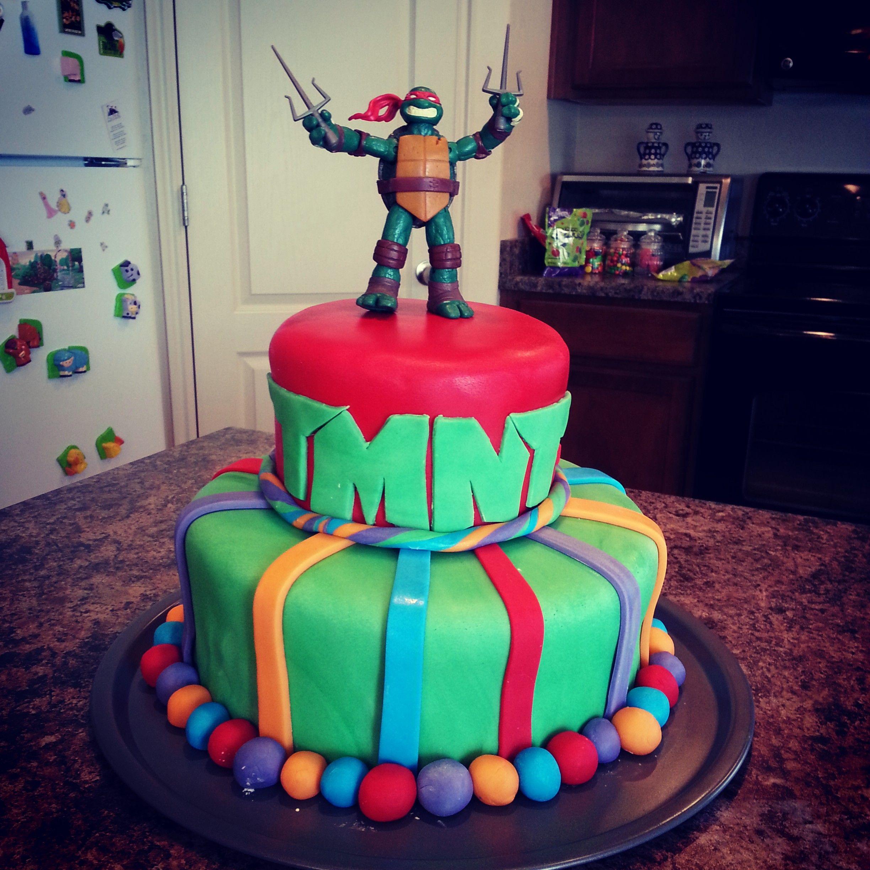 Teenage Mutant Ninja Turtle Birthday Cake Fondant