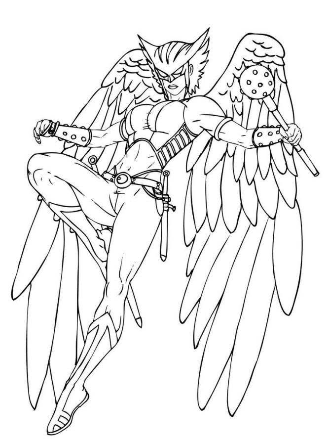 Hawkgirl Coloring Pages Az
