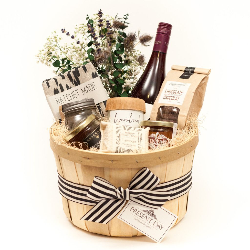 A TORONTO GIFT BASKET WITH A SELECTION OF LOCAL LUXURIES