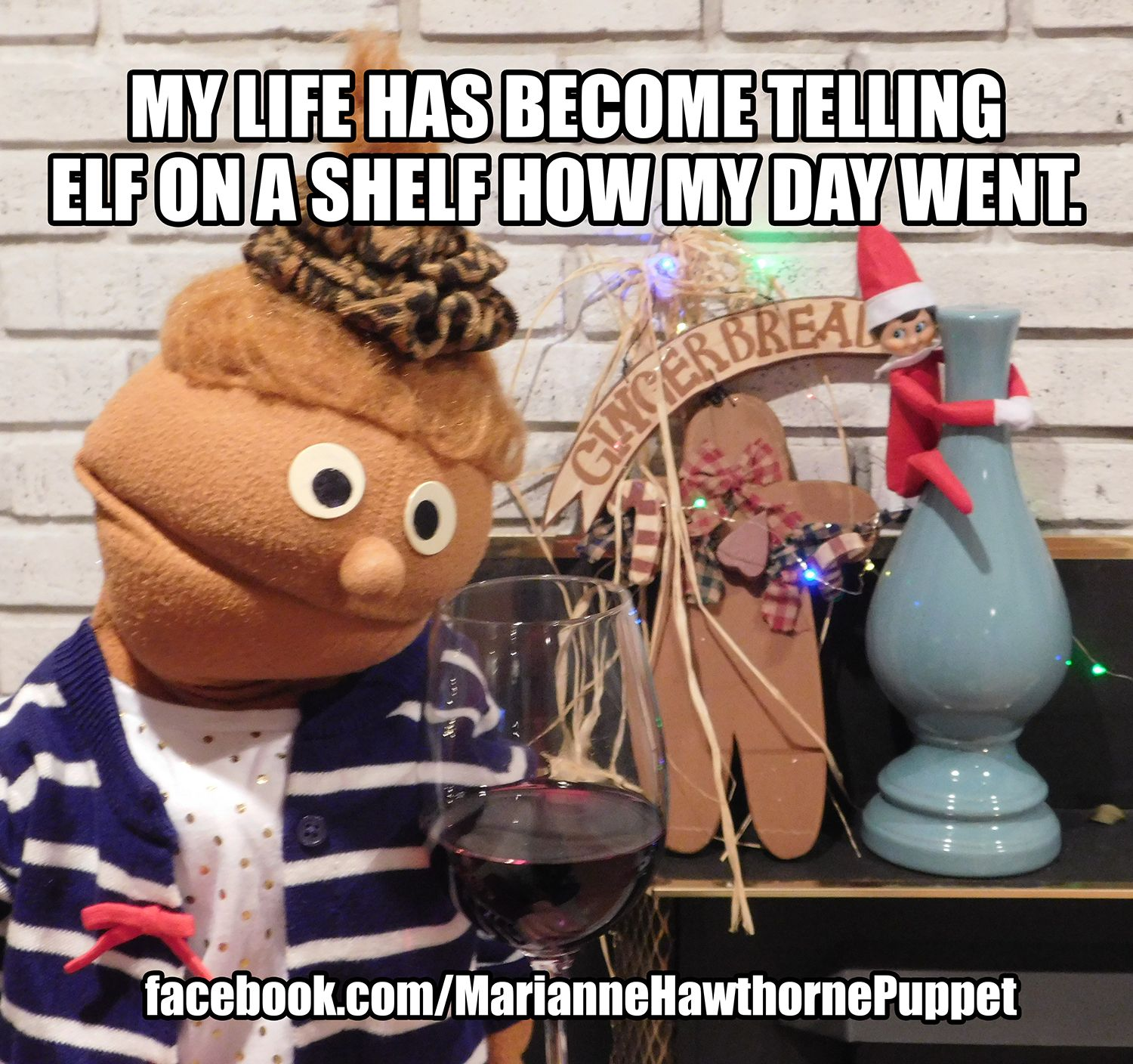My life has telling Elf on a Shelf how my day went