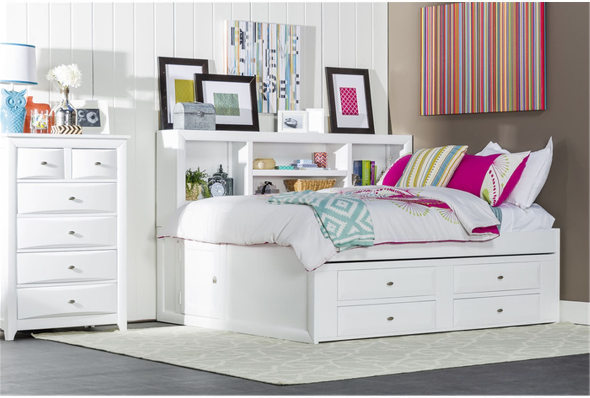 PERFECT For Storage And Saving Space Varsity White Full