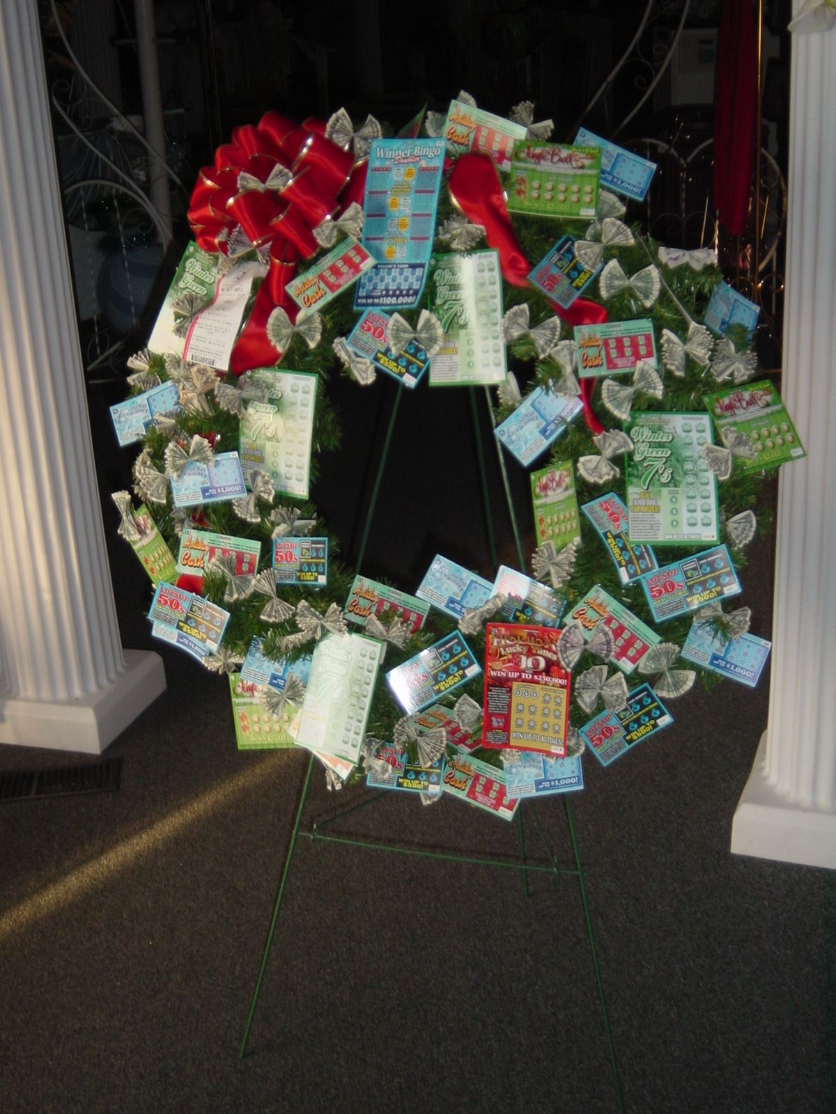 Christmas LotteryMoney Wreath LotteryMoney Bouquets