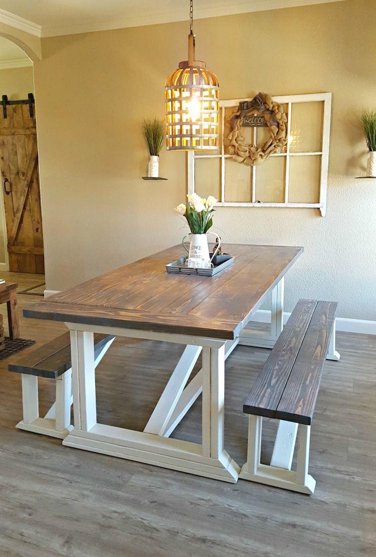 DIY Farmhouse Table Farmhouse table plans, Diy farmhouse