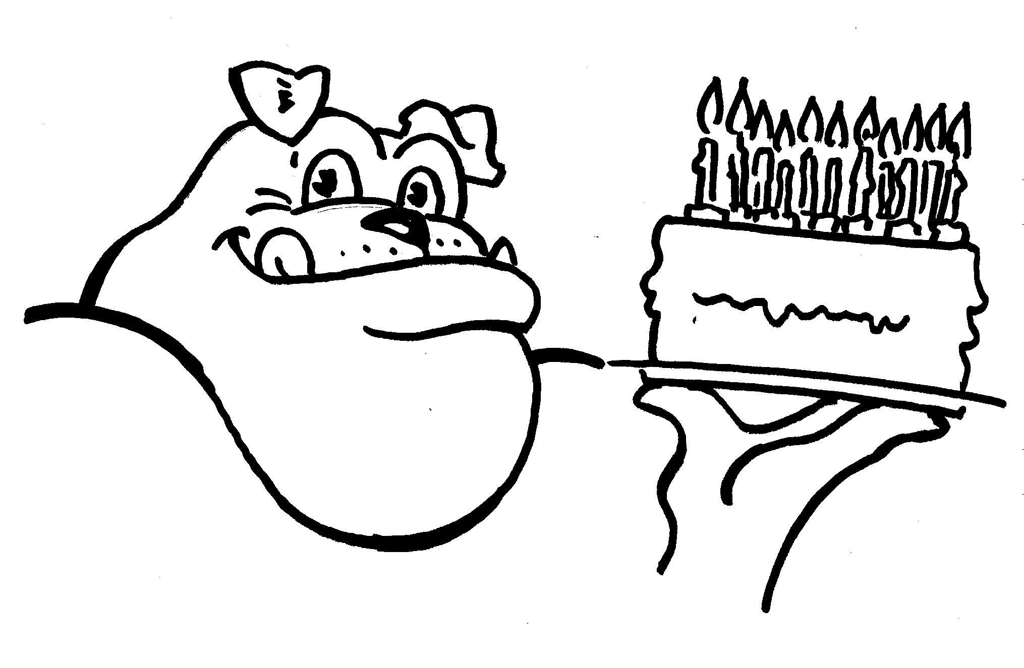 UGA Birthday Dawg Coloring Sheet Printable UGA