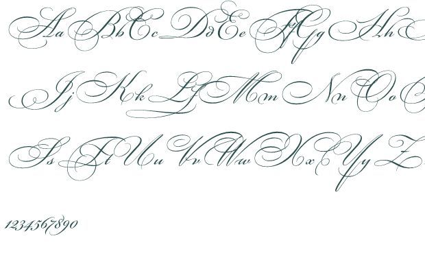Fancy Cursive Fonts Alphabet For Tattoos On Calligraphy Letters Penmanship And