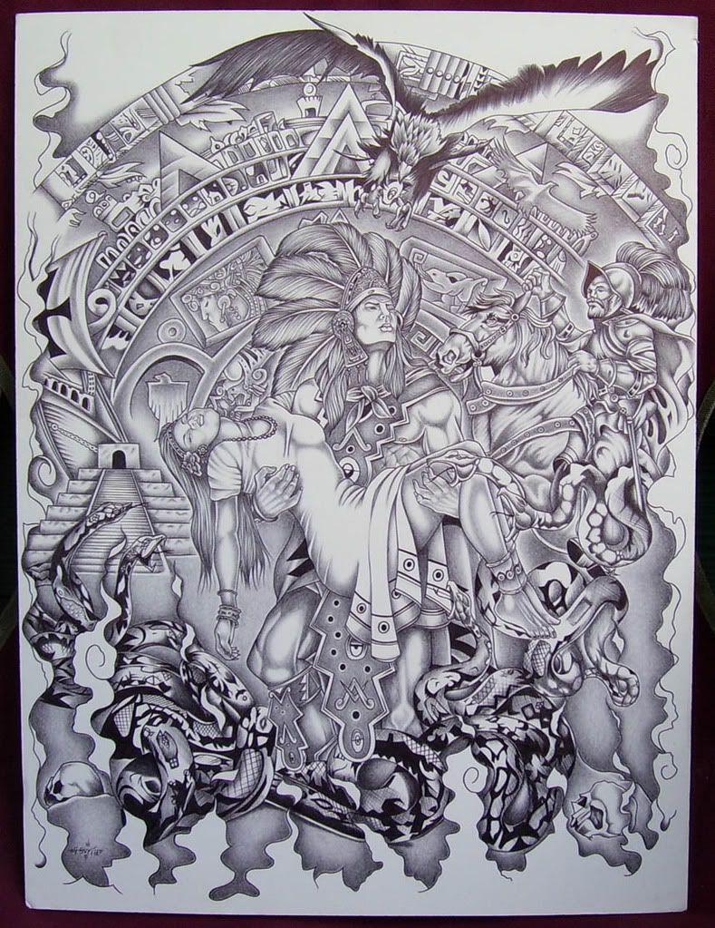 Mexican Aztec Art Aztec Art Drawings Page 7 tats