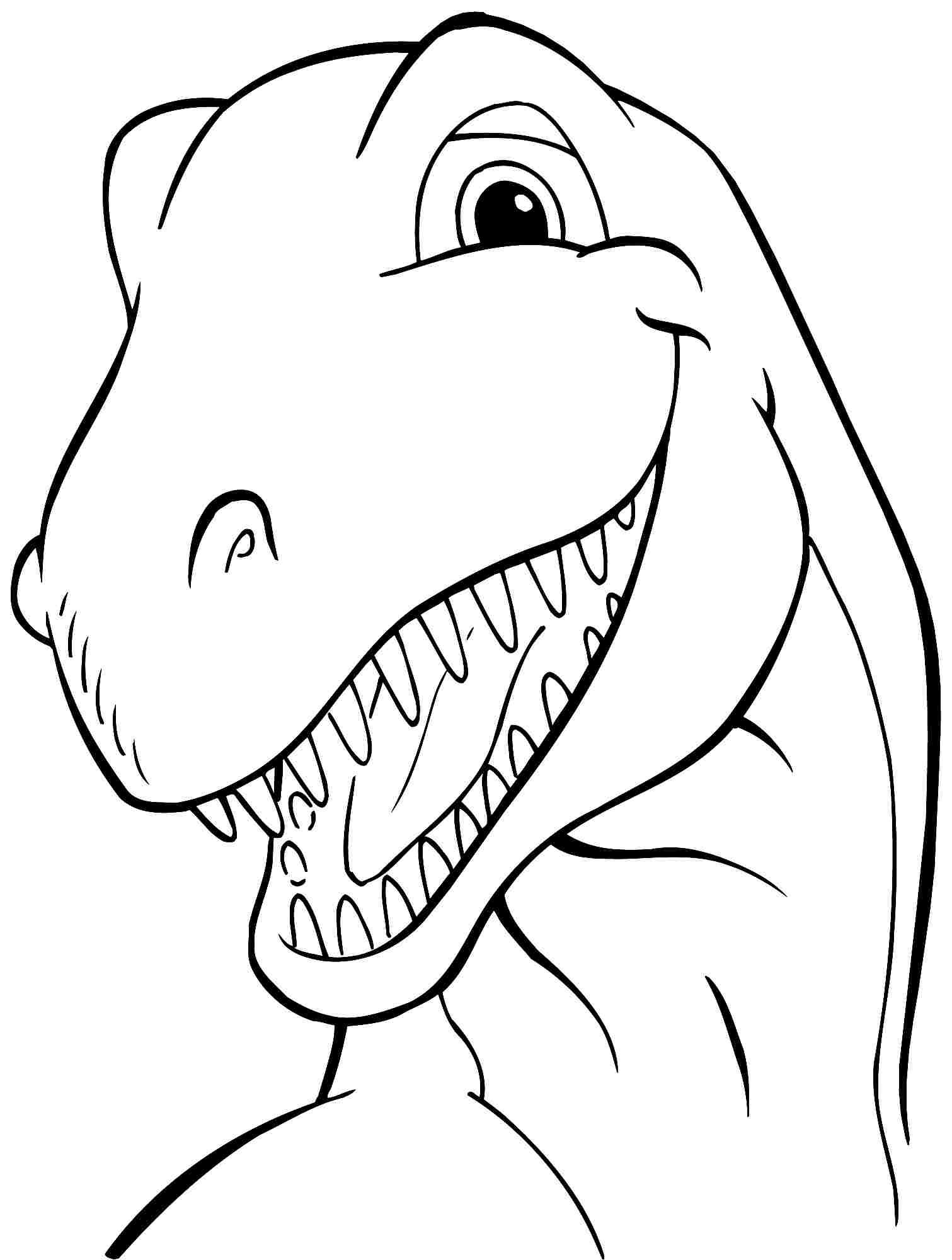 Animal Dinosaurs Tyrannosaurus Rex Coloring Sheets Free