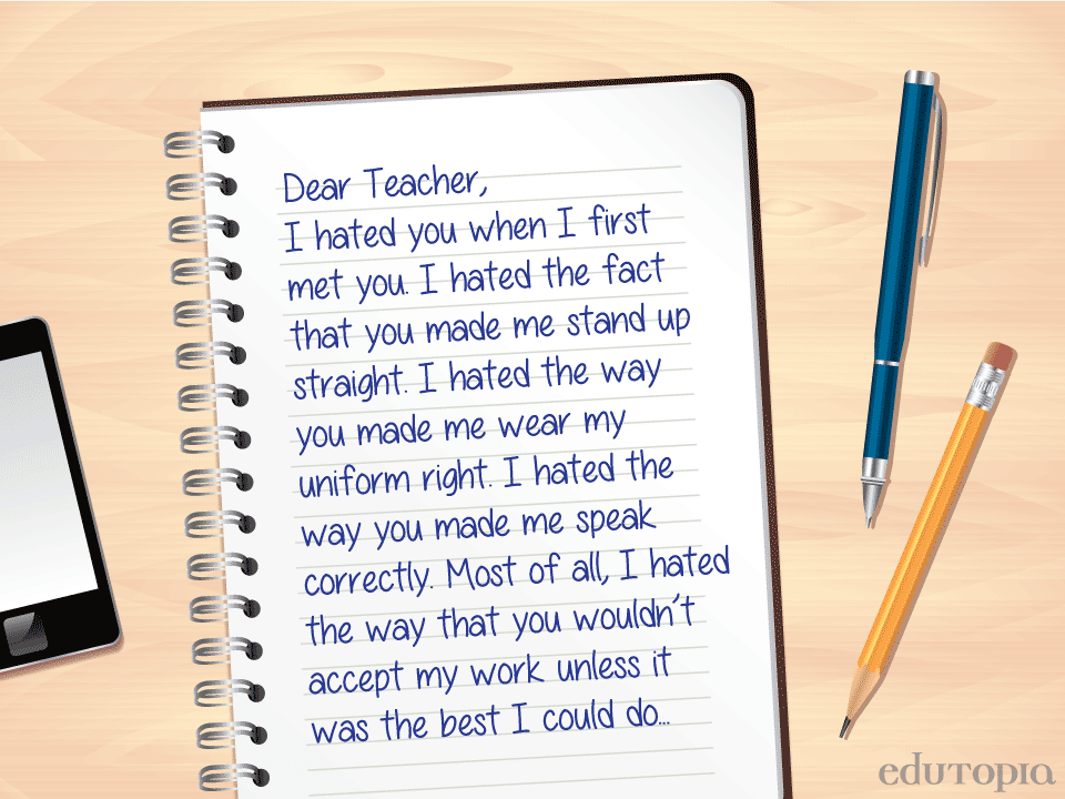ThankYou Letters to Teachers You ve, Students and Teacher