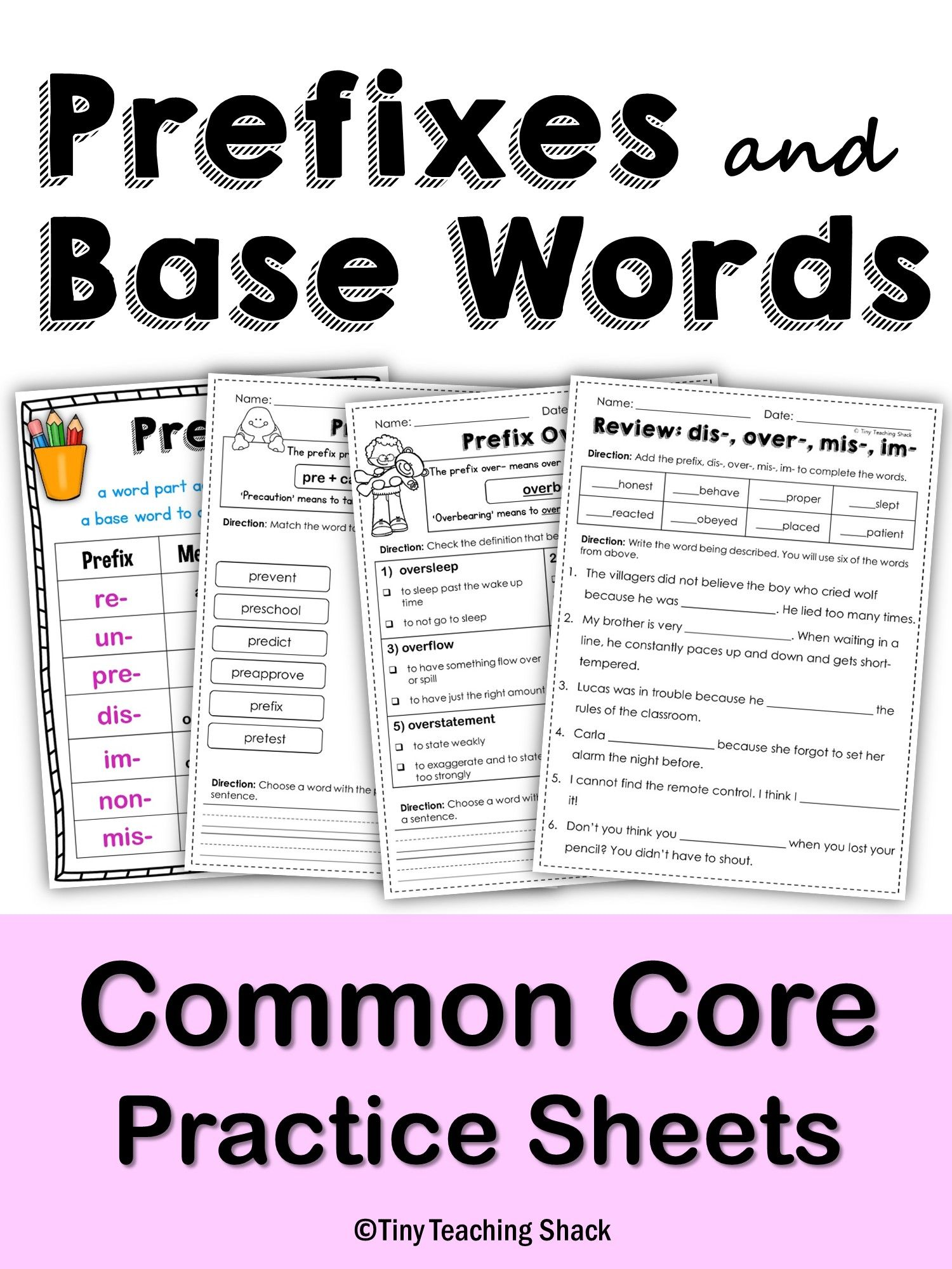 Root Words And Affixes Worksheet