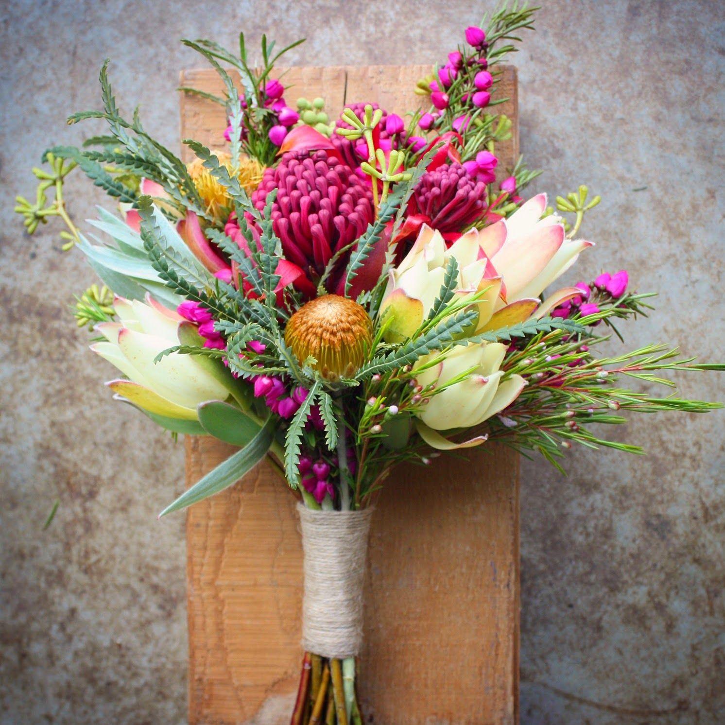 Native Spring Wedding Flowers Flower Girls bouquet with