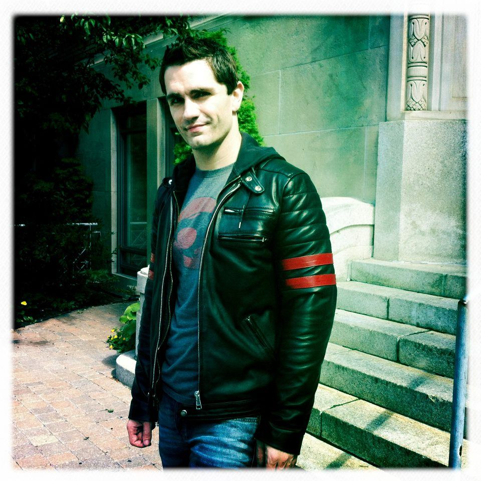 Sam Witwer in his Hybrid Leather Jacket by Soul Revolver
