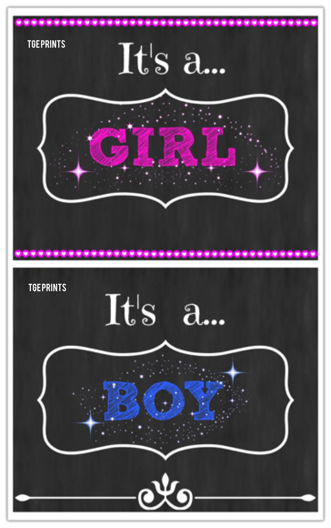 Free Printable Gender Reveal Announcements And Signs