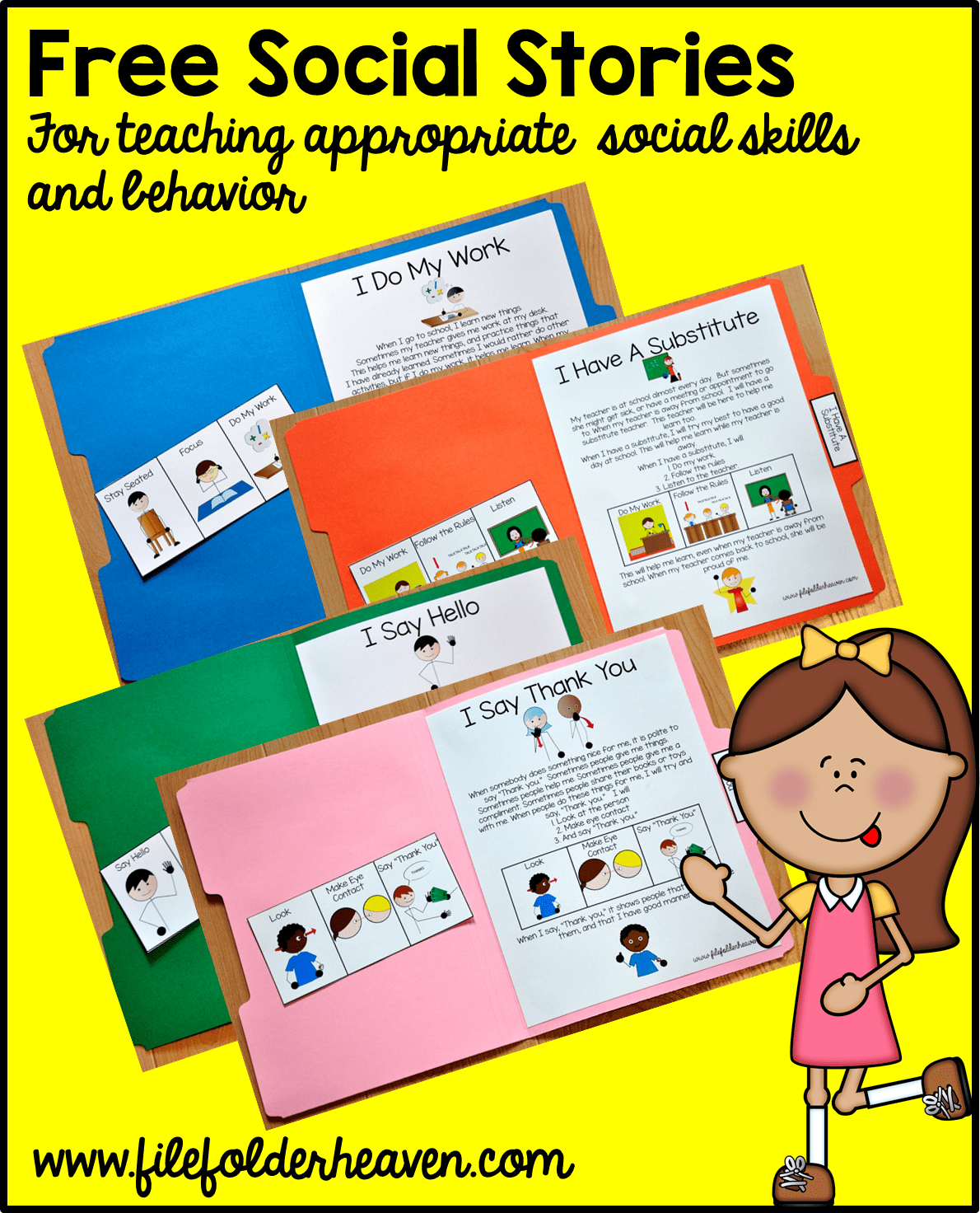 Free Printable Folder Stories Simple One Page Social Stories That Teach Appropriate Social