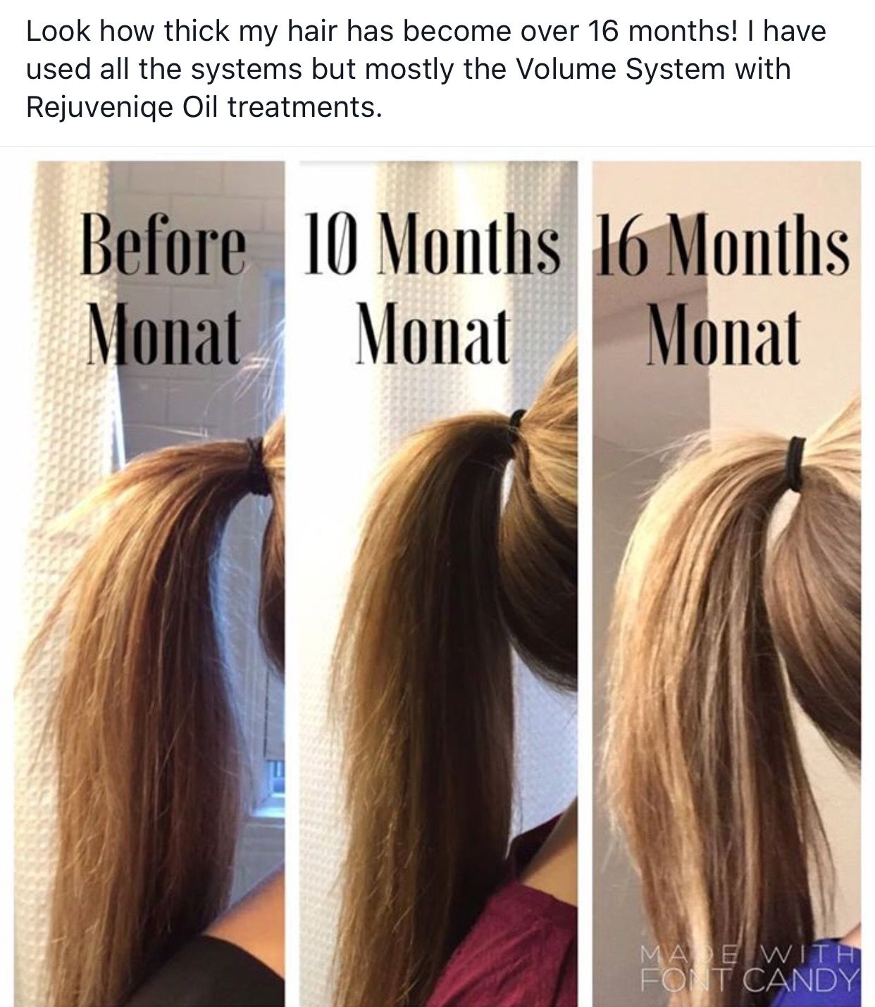Want thicker hair??? Monat is amazing. All natural and