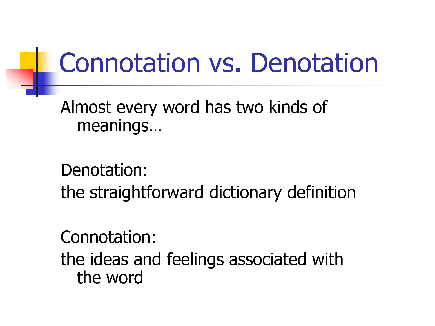 Connotation Vs Denotation Literaryelements