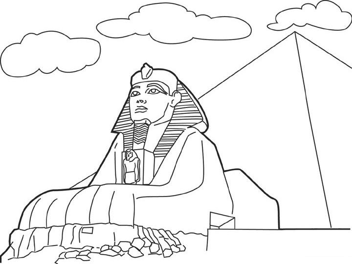 Free Printable Ancient Egyptian King Coloring Page   540x720