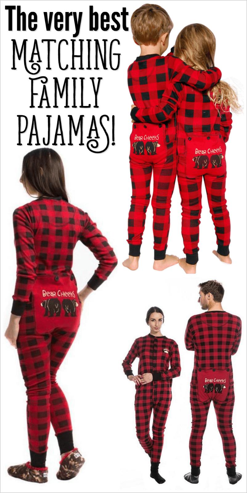 Family Christmas Pajamas Cute Matching Pjs & Funny